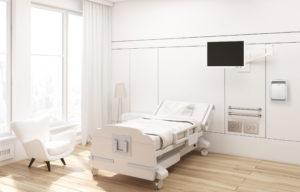 Photo EOLIS GM Blanc chambre clinique luxe